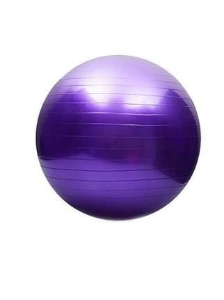 Фитбол, гимнастический мяч для занятий спортом, матовый, фиолетовый, 65 см