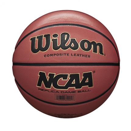 Мяч баскетбольный WILSON NCAA Replica Comp Defl WTB0730XDEF, р.7, ПУ, коричневый