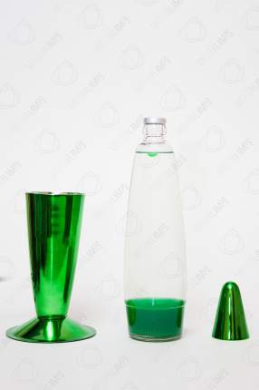 Лава-лампа Motionlamps 41см Хром Зелёная розрачная (Воск)
