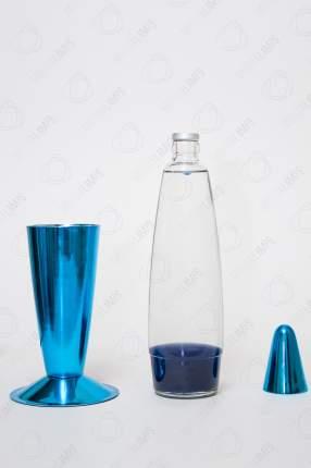 Лава-лампа Motionlamps 41см Хром Синяя Прозрачная (Воск)