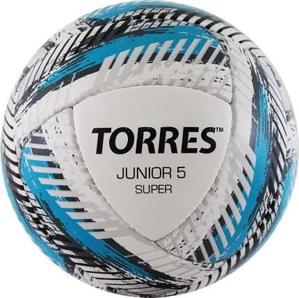 Мяч футб. TORRES Junior-5 Super HSF320305, р.5, 350-370 г, ПУ,4сл,16 п,руч.сш,бел-гол-сер