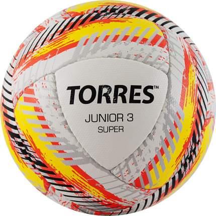 Мяч футб. TORRES Junior-3 Super HSF320303, р.3, 280-310 г,ПУ,4 сл, 16 п,руч.сш,бел-кра-жел