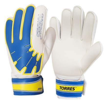 "Перчатки врат. ""TORRES Jr."" арт. FG05025-BU, р.5, 2 мм латекс, удл.манж.,бело-голуб-желтый"
