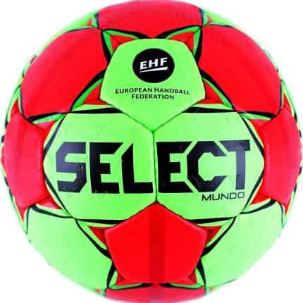 Мяч гандбольный SELECT Mundo 846211-443, Senior р.3, EHF,мат.ПУ,руч.сш, зел-красн-черн