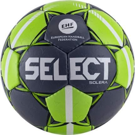 Мяч ганд. SELECT Solera 843408-994,Lille р.1,EHF Appr, ПУ с микроуглуб темносер-лайм