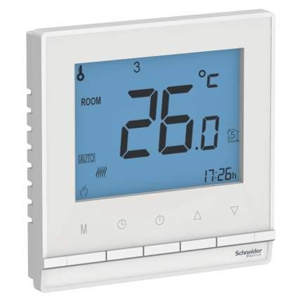 Термостат электрон.теплого пола SE AtlasDesign Бел с датч.,от+5до+35°C,16A,в сб.