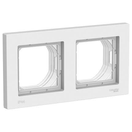 Рамка Schneider AtlasAquaDesign СУ, 2-местная, белый, IP44, ATN440102
