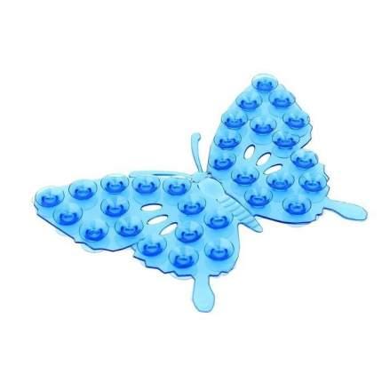 Полочка-липучка с двусторонними присосками Бабочка (Цвет: Зеленый )
