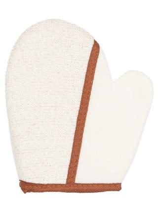 Двухсторонняя массажная мочалка-рукавица Safi Tex, 18х20 см