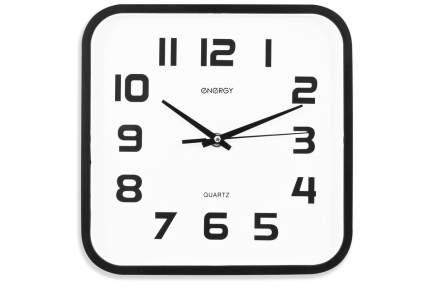 Часы настенные кварцевые Energy EC-08 квадратные (24.5x3.9 см) белый циферблат (009308)