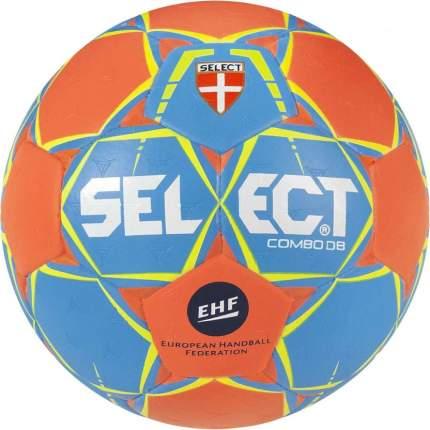 Мяч ганд. SELECT COMBO DB 801017-226, Lille р.1, EHF Appr,ПУ,гибр.сш., оранжево-синий