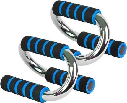 B34502 Упоры для отжиманий хром (синий)