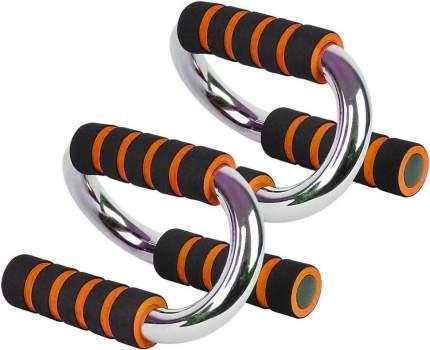 B34502 Упоры для отжиманий хром (оранжевый)