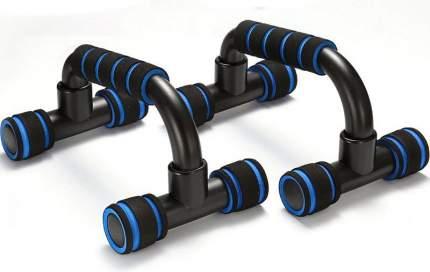 B34471 Упоры для отжимания с неопреновыми ручками пластиковые (синий)