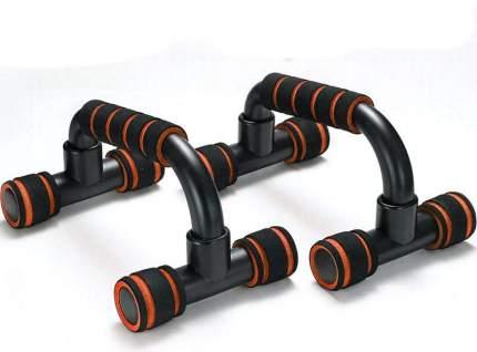 B34470 Упоры для отжимания с неопреновыми ручками пластиковые (оранжевый)