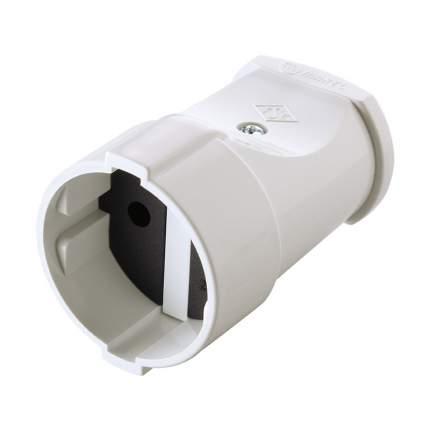 Штепсель Makel 10А 250В (Абс-Пластик, Белый) 10004