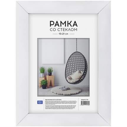 "Рамка пластиковая ""OfficeSpace"", 15x21 см, №10, белая"