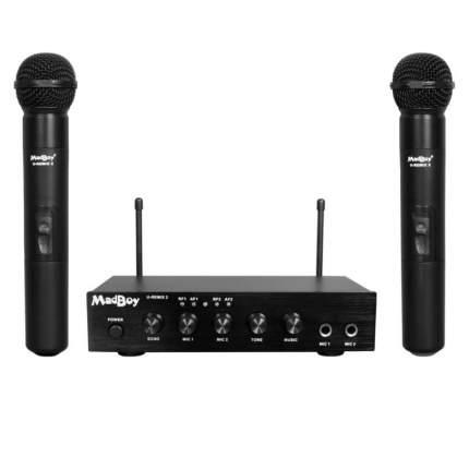 Микшер U-REMIX 2 для онлайн караоке + 2 беспроводных микрофона