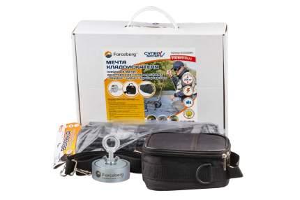 Мечта кладоискателя: поисковый магнит Forceberg 200х2 + веревка + сумка с экранированием