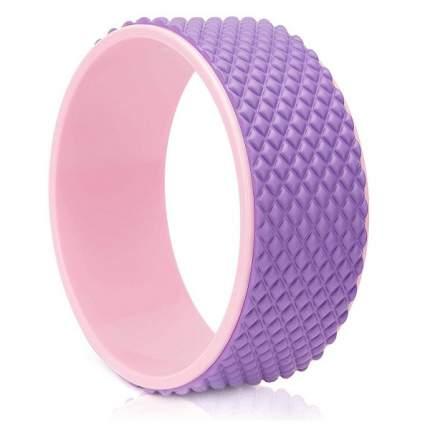 FWH-101 Колесо для йоги массажное 31х12см 6мм (розово/фиолетовое) (D34474)