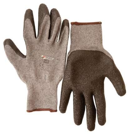 Перчатки ( 2 пары ) текстиль с латексным рифленым покрытием 9/L Skrab 27641