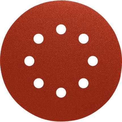 Шлифовальный круг на липучке 125мм Р60 8 отверстий 50 шт. Orientcraft