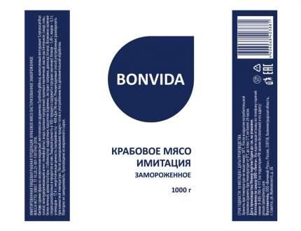 Крабовое мясо Bonvida имитация 1 кг