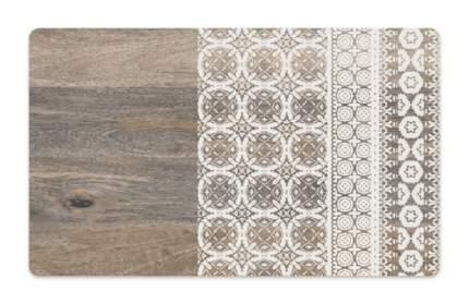 Коврик под миску для животных TarHong Moroccan Wood, прямоугольная, древесный с рисунком