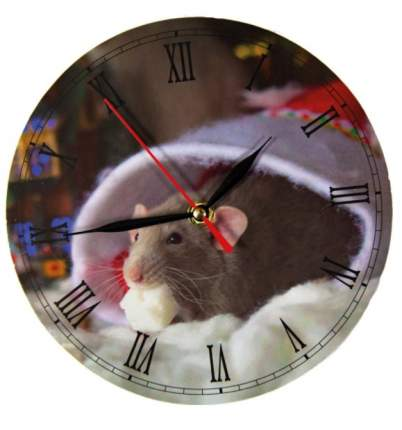 "Часы настенные без стекла ""Мышка c сахарком"", 20 см"