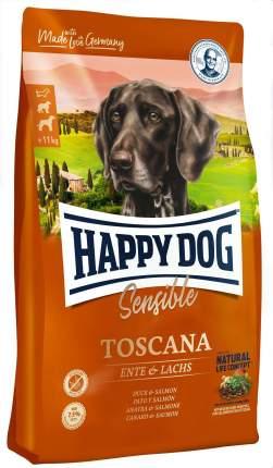 Сухой корм для собак Happy Dog Supreme Sensible Toscana, утка, лосось, 4кг