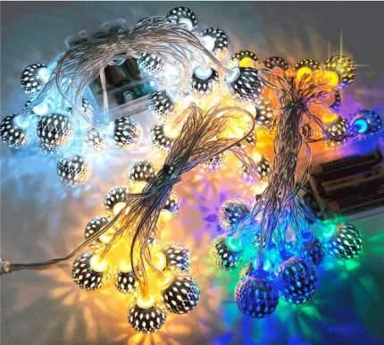 Новогодняя электрическая гирлянда Baziator Шары золотые H0280L 3 м разноцветный