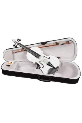 Белая скрипка Antonio Lavazza Vl-20/wh 4/4 , кейс,  смычок и канифоль в комплекте