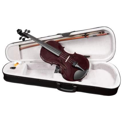 Вишнёвая скрипка Antonio Lavazza Vl-20/drw 4/4 , кейс,  смычок и канифоль в комплекте