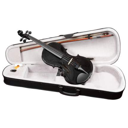Чёрная скрипка Antonio Lavazza Vl-20/bk 4/4 , кейс,  смычок и канифоль в комплекте