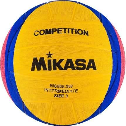 Мяч для водного поло MIKASA W6608 5W, юнош., р.3, 340-380 г, дл. окр.61-63см,жел-син-роз