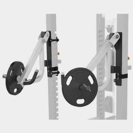 MATRIX MAGNUM OPT17R Рычаги для жима для силовой рамы MEGA Power Rack (СЕРЕБРИСТЫЙ)