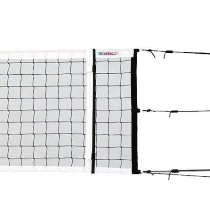 Сетка волейбольная  KV.REZAC офиц., арт.15075130, черн., 9.5х1м, нить 3мм ПП, кевлар. трос