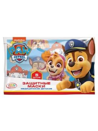 Защитные маски медицинские детские Конфитрейд Щенячий патруль 5 шт.