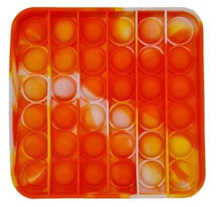 Поп ит с пузырьками Вечная пупырка Прямоугольник Popit_antistress_Rectangle_Yellow_Oranje