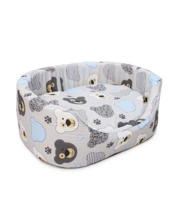 Лежанка для кошек, собак PerseiLine с подушкой, поплин 35x45x16см в ассортименте