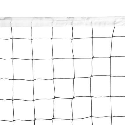 Сетка волейбольная  EL LEON DE ORO, 14443020003, 9.5х1м, нить 3мм ПП, стал. трос, черный