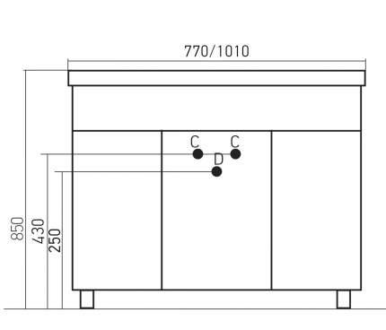 Тумба Mixline Сальери-2 105 Тумба напольная под раковину Классик патина золото (531456)