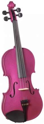 Скрипка окрашенная Brahner Bvc-370/mlc 1/2, цветЛиловый металик