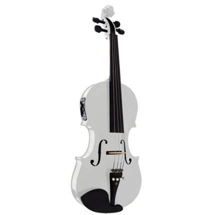 Акустическая Скрипка Brahner Ev-380/mwh 4/4, со Звукоснимателем, цвет – Белый металик