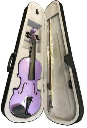 Скрипка окрашенная Brahner Bvc-370/mlc 4/4, цветЛиловый металик