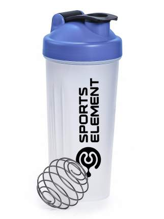 """Шейкер синий Sports element """"Хрусталь синий"""" Sports element с шариком (венчиком)"""