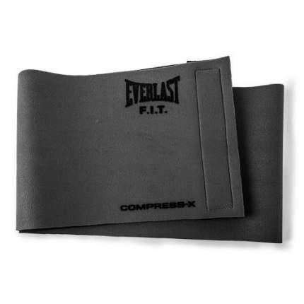 Пояс компрессионный Everlast Slimmer Belt, серый,