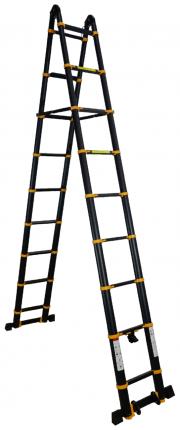 Лестница-трансформер телескопическая Raybe RM740 7,4 м