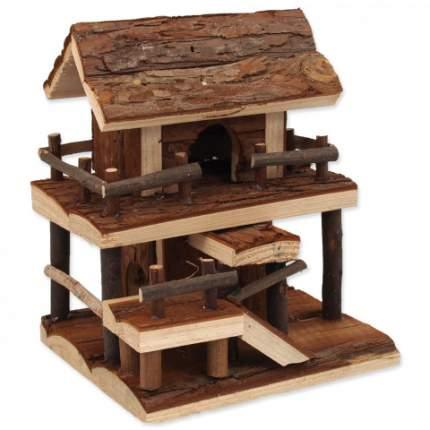 Домик для мыши, хомяки Small Animals с лестницей, на подставке дерево 20х15х17см