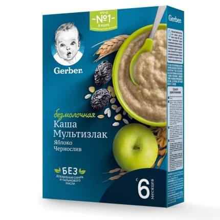 Каша безмолочная Gerber Мультизлаковая с яблоком и черносливом с 6 мес. 180 г